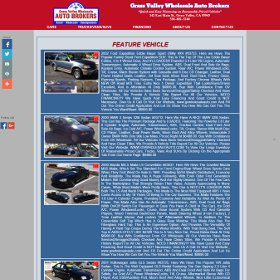 Grass Valley Wholesale Auto Brokers